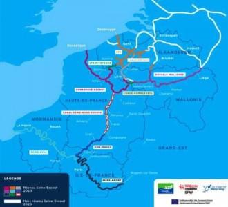 Transport fluvial : Seine-Escaut, un plan stratégique européen à horizon 2030